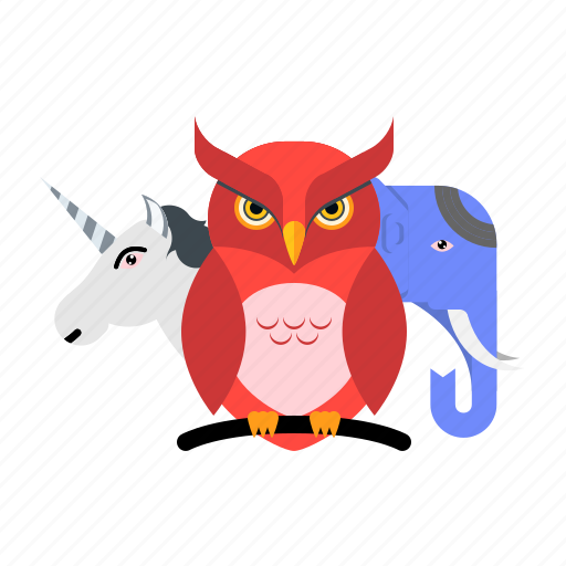 animal, elephant, horse, nture, owl, wildlife icon