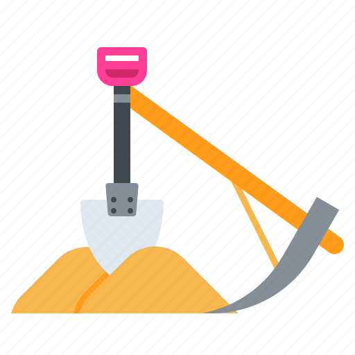 dig, digging, farm, plaw, shovel, sickle, spade icon