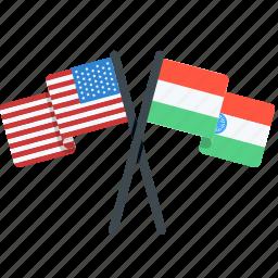contry, flag, india, proud, states, unites, usa icon