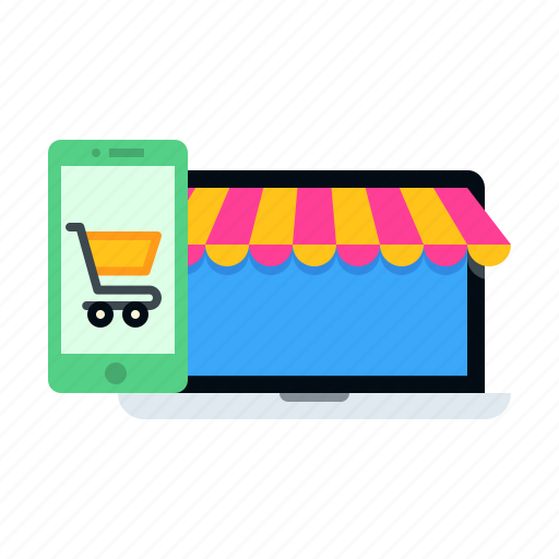 cart, device, ecommerce, mobile, online, shooping, store icon