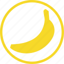 banana, food, fresh, fruit, kitchen icon