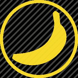 banana, food, fresh, fruit, kitchen icon