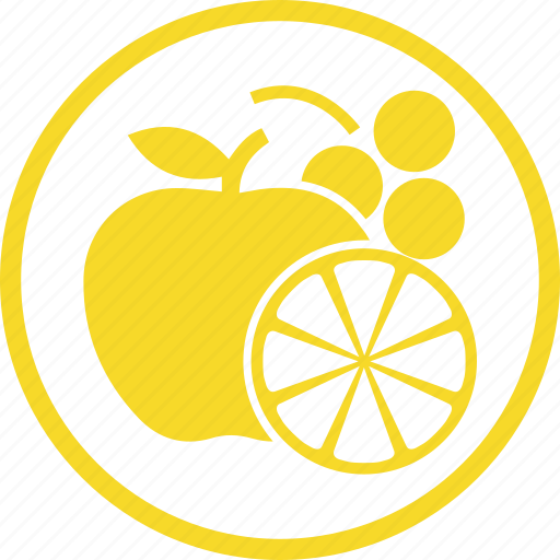 apple, collection, food, fruit, fruits, grapes, orange icon