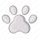 animal, cat, footprint, pet icon