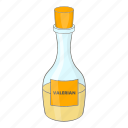 bottle, small, valerian icon