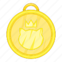 award, cat, medal, pet icon