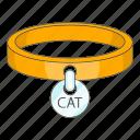 animal, cat, collar