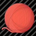ball, cat, toy, yarn