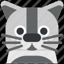 animal, avatar, cat, face, kitten, pet, pussy icon