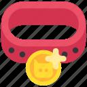 animal, cat, collar, dog, jetton, pet, token icon