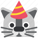 animal, birthday, cat, holiday, party, pet, pussy icon