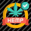 hemp, made, organic, with icon