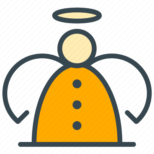 angel, celebration, christmas, topper, tree, wings, xmas icon