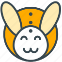 bunny, animal, celebration, easter, happy, rabbit icon