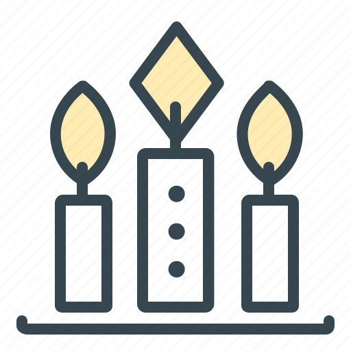 candle, candles, celebration, decoration, flame, light icon