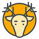 animal, celebration, christmas, deer, reindeer, xmas icon