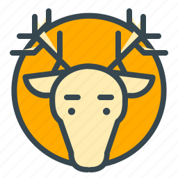 animal, celebration, christmas, deer, reindeer, xmas icon