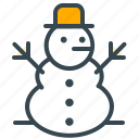 snowman, celebration, christmas, snow, winter, xmas