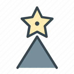celebration, christmas, decoration, star, topper, tree icon