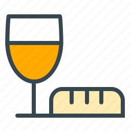 beverage, bread, celebration, drink, food, wine icon