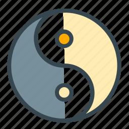 celebration, chinese, yang, yin, ying icon
