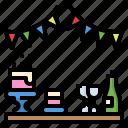 birthday, celebaration, celebration, garlands, party