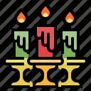 candles, celebaration, christmas, decoration, party
