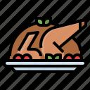 celebaration, chicken, food, leg, roast, turkey