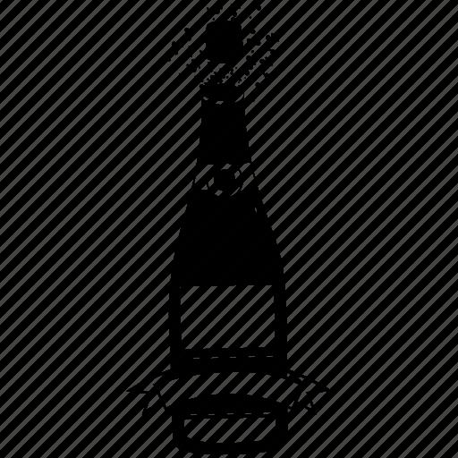celebration, champagne, cheers, congratulate, graduation, new year, party icon
