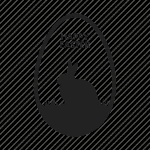 animal, egg, rabbit icon