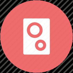 loudspeakers, music system, speaker, speaker box, subwoofer, woofer icon