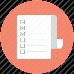 agenda, checklist, list, plan list, shopping list icon