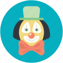 clown, jester, jester face, joker avatar, joker face icon