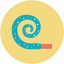 birthday party, celebration, party decorations, party horn, party whistle icon