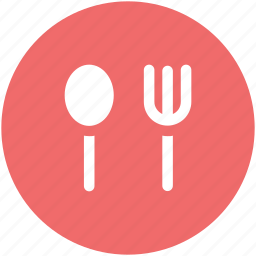 eating, flatware, fork, silverware, spoon, utensil icon