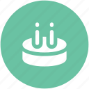 anniversary, birthday cake, cake, cake with candles, candles, celebration icon