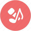 colloquially mic, melodic, mic, microphone, music, music note, musical instrument icon