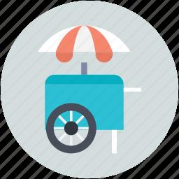 food stand, ice cream bike, ice cream cart, ice cream trolley, vending cart icon