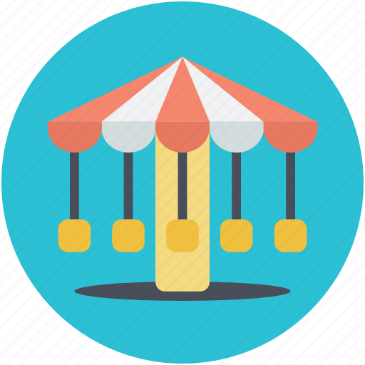 amusement park, carousel, entertainment, park, ride fair, roundabout icon