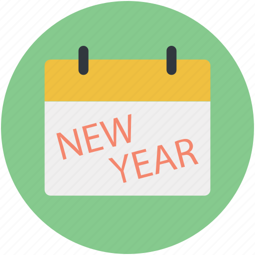 calendar, new year calendar, wall calendar, yearbook icon