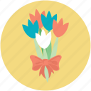 bouquet, bouquet flower, bunch of flower, floral decoration, flowers icon