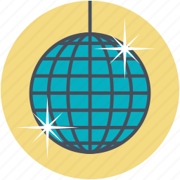 dance ball, disco ball, disco lights, party ball, party lighting icon