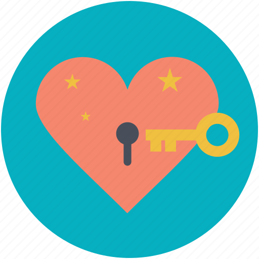 heart lock, key, love secret, padlock, secret feelings icon