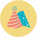 birthday cap, birthday cone hat, cone hat, party cap, party cone hat icon