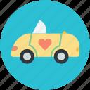 automobile, car, transport, travel, wedding car