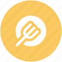 dining, eating, flatware, fork, plate, tableware icon