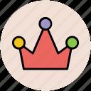crown, head gear, king, queen, royal crown icon
