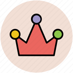 crown, head gear, king, queen, royal crown icon