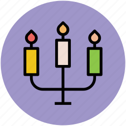 burning candles, candle holder, candle stand, candles, candlestick icon