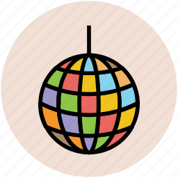 dance ball, disco ball, disco lights, glitter ball, mirror ball, party ball icon